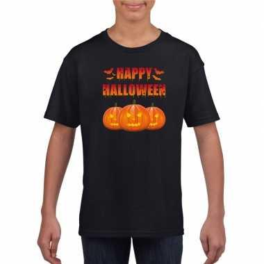 Happy halloween t shirt zwart jongens meisjes carnavalskleding den bo