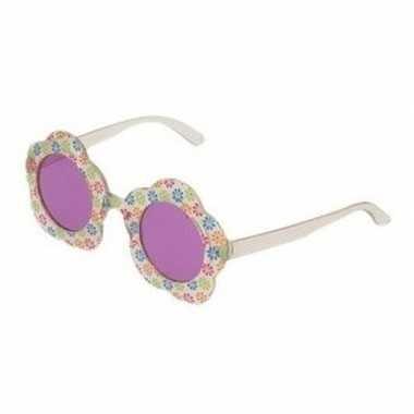 Hippie feestbril paarse glazen volwassenen carnavalskleding den bosch