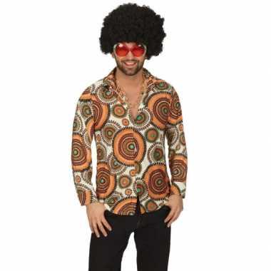 Carnavalskleding hippie overhemd heren