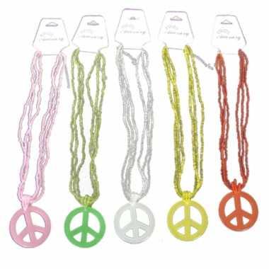 Hippie Peace ketting carnavalskleding Den Bosch
