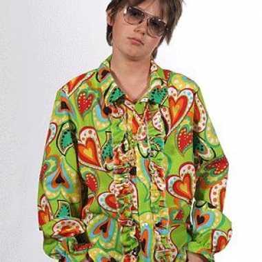 Hippie shirts hartjes kinderen carnavalskleding den bosch