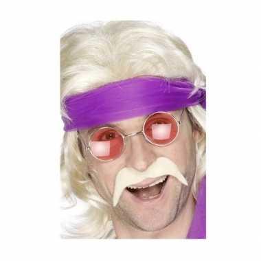 Hippie verkleed accessoires snor bril carnavalskleding den bosch
