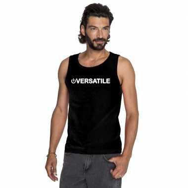 Homo tanktop/ singlet shirt power versatile zwart heren carnavalskled