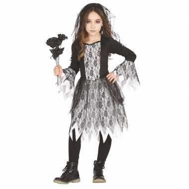 Carnavalskleding horror bruidsjurkje sluier kinderen