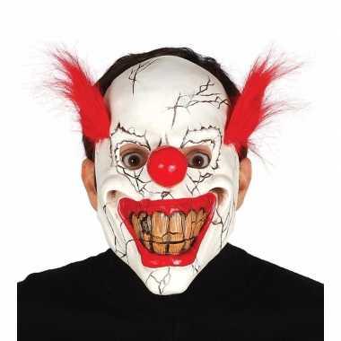 Horror clowns maskers rood haar carnavalskleding den bosch