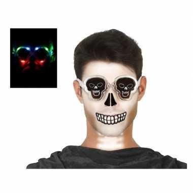 Horror doodskoppen bril verlichting volwassenen carnavalskleding den