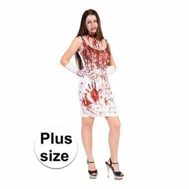 Carnavalskleding horror jurk bloedspetters dames xxl