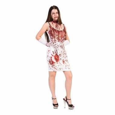 Carnavalskleding horror jurk bloedspetters dames