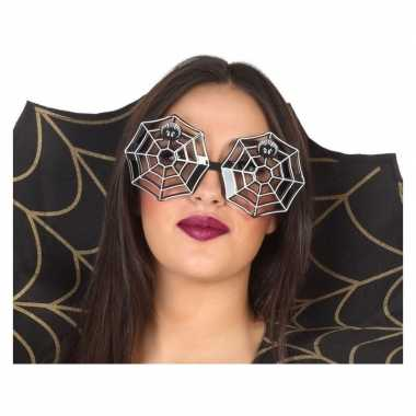 Horror spinnenweb verkleed bril volwassenen carnavalskleding den bosc
