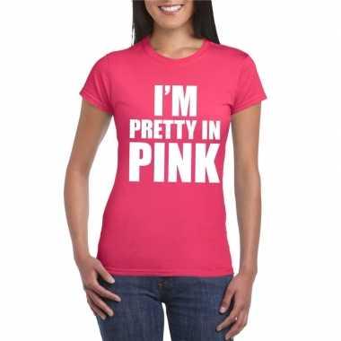 I am pretty pink toppers shirt roze dames carnavalskleding den bosch