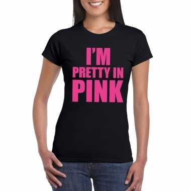 I am pretty pink toppers shirt zwart dames carnavalskleding den bosch
