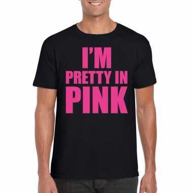 I am pretty pink toppers shirt zwart heren carnavalskleding den bosch