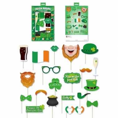 Ierse groene foto accessoires een stokje carnavalskleding den bosch