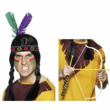 Indianen verkleed accessoires tooi pijl boog carnavalskleding den bos