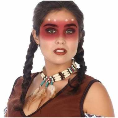 Indianen verkleed ketting volwassenen carnavalskleding den bosch