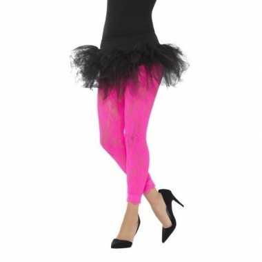 Jaren panty roze kant dames carnavalskleding den bosch