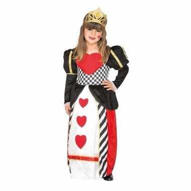 Carnavalskleding kaartenkoningin harten verkleedjurk meisjes
