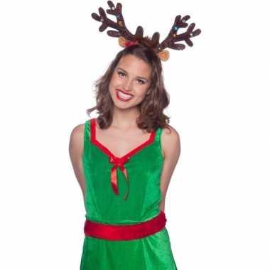 Kerst verkleedaccessoire rendieren gewei lampjes volwassenen carnaval