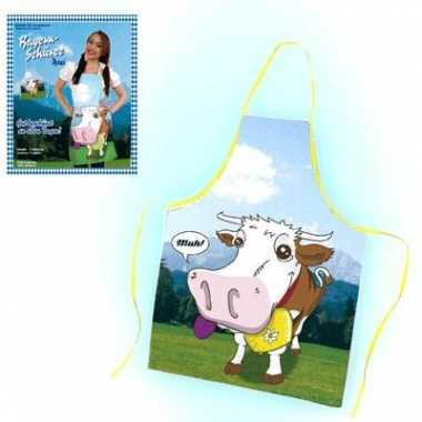 Keukenschort cartoon koe carnavalskleding Den Bosch