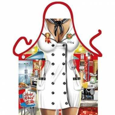 Keukenschort Chef kok carnavalskleding Den Bosch