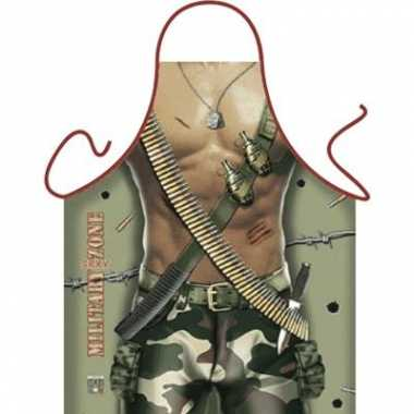 Keukenschort Military Zone Man carnavalskleding Den Bosch