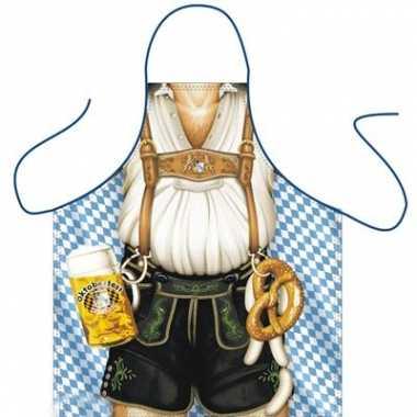 Keukenschort Oktoberfest Mann carnavalskleding Den Bosch