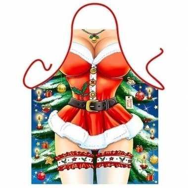 Carnavalskleding keukenschort sexy kerst miss