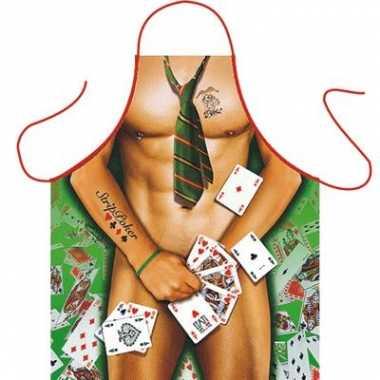 Keukenschort Strip Poker Man carnavalskleding Den Bosch
