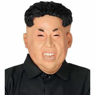 Kim jong president gezicht masker latex carnavalskleding bosch