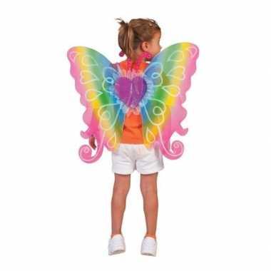 Kinder verkleed vleugels regenboog carnavalskleding den bosch
