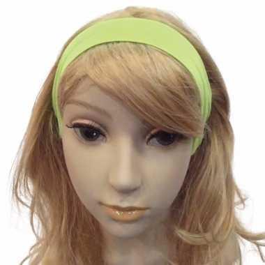 Carnavalskleding knalgroene haarband