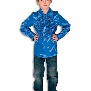 Kobaltblauwe hippie blouse jongens carnavalskleding Den Bosch
