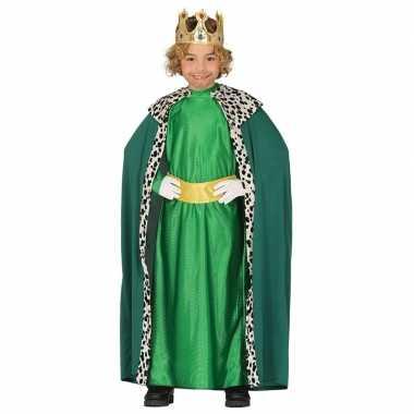 Carnavalskleding koning groen kinderen den bosch