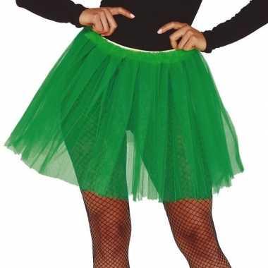 Korte tule onderrok groen dames carnavalskleding den bosch