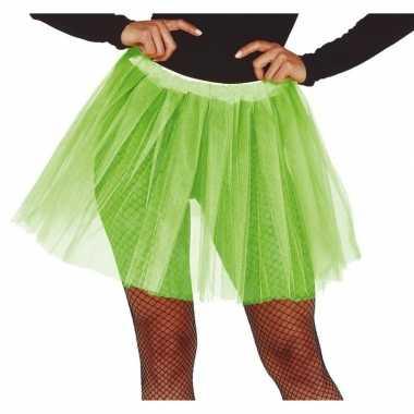 Korte tule onderrok lime groen dames carnavalskleding den bosch
