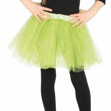 Korte tule onderrok lime groen meisjes carnavalskleding den bosch