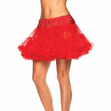 Korte tule onderrok rood dames carnavalskleding den bosch