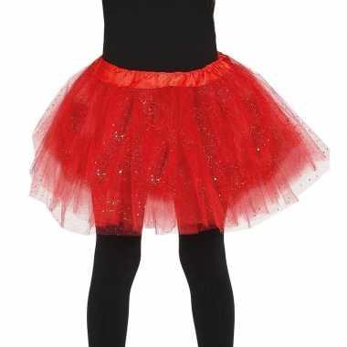 Korte tule onderrok rood meisjes carnavalskleding den bosch
