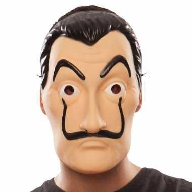 La casa papel bankrover masker salvador dali carnavalskleding den bos
