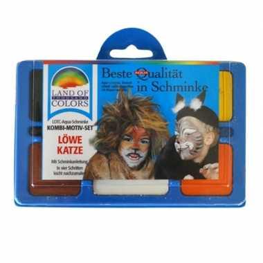 Leeuw schminken schminkset carnavalskleding den bosch