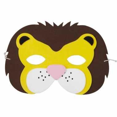 Leeuwen foam masker kinderen carnavalskleding den bosch
