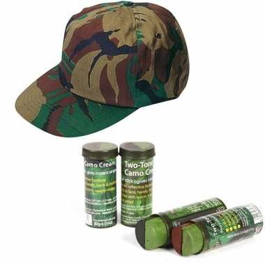 Leger verkleed accessoires cap schmink carnavalskleding den bosch