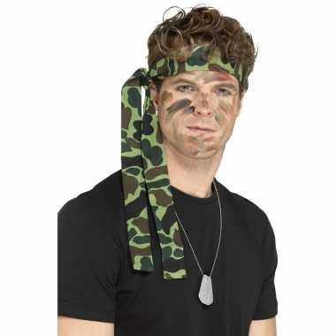 Leger verkleed accessoires ketting hoofdband carnavalskleding den bos