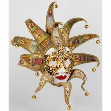 Carnavalskleding luxueus reale tarot dame masker