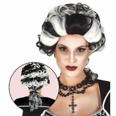 Markiezin vampierenpruik dames carnavalskleding den bosch