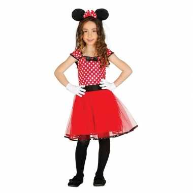 Carnavalskleding muizen meisje rood