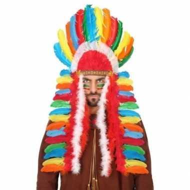 Multikleuren indianen tooi heren carnavalskleding den bosch