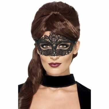 Mysterieus oogmasker zwart dames carnavalskleding den bosch