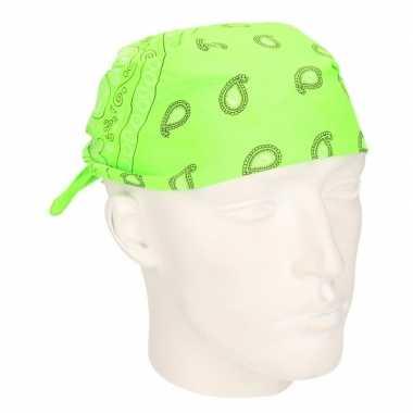 Neon groene hoofddoek bandana carnavalskleding den bosch