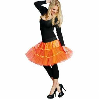 Neon oranje petticoat dames carnavalskleding den bosch
